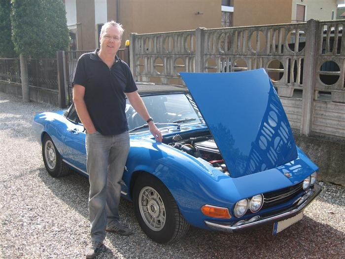 Dirk and his Spider 2400 blu francia