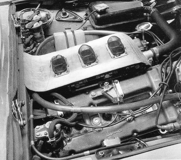 Fiat Dino Spider racing engine