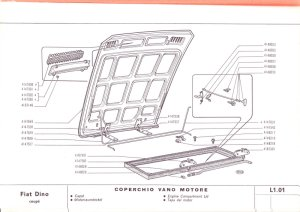 Dino Coupe bonnet components