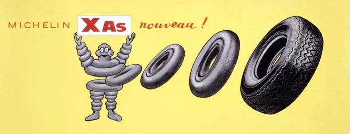 Michelin XAS Tyre - period advertisment